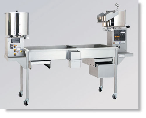 CMD 25 Caramelizer and 32oz. Giant on 7' Knock Down Table with Optional Blower in dubai