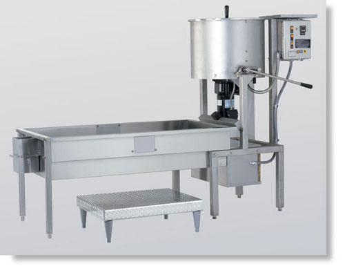 CMD100 Cooker and Coater on 6' Table with Blower in dubai